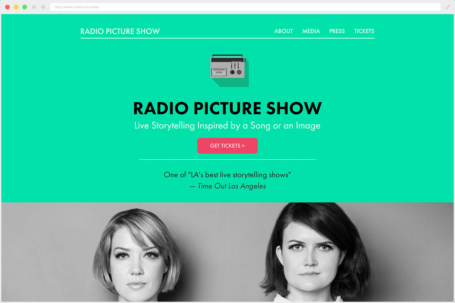 web design Radio Picture Show