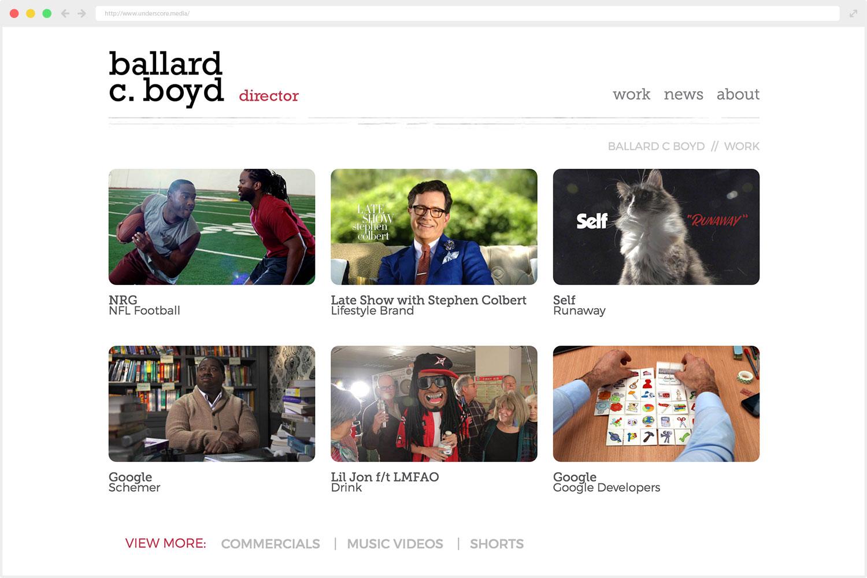 Ballard C. Boyd web design