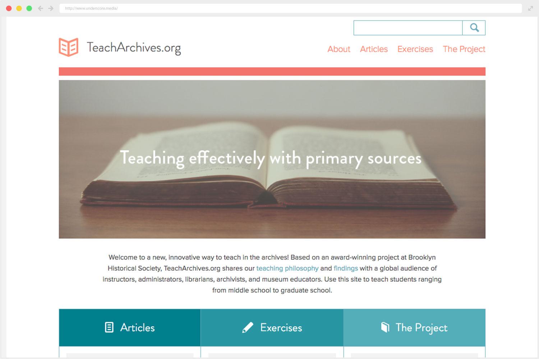 web design TeachArchives.org